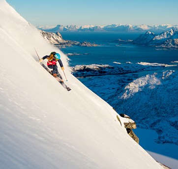 Kaylin Richardson skiing in Norway (in No Turning Back) - SVERRE HJORNEVIK | WARREN MILLER ENTERTAINMENT
