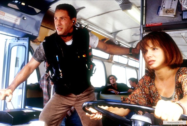 Keanu Reeves and Sandra Bullock in 'Speed' - TWENTIETH CENTURY FOX PICTURES