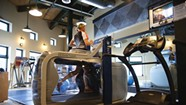 Trying an Antigravity Treadmill