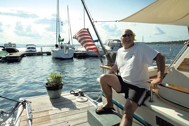 Kent Cassella aboard Mazie C.