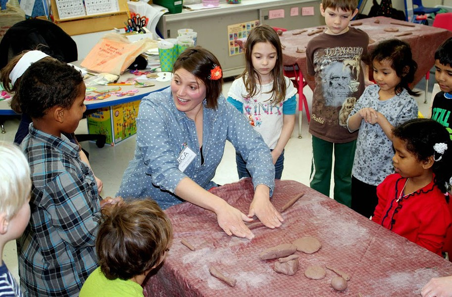 Kim Desjardins and kindergarten class at IAA - PHOTOS COURTESY OF JUDY KLIMA