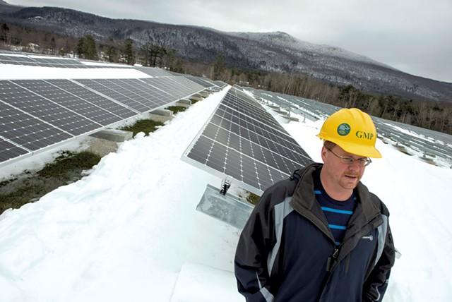 Kirk Shields at Stafford Hill Solar Farm - CALEB KENNA