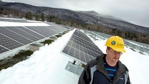 Kirk Shields at Stafford Hill Solar Farm