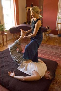 Kristin Borquist working  with Zach Clayton - MATTHEW THORSEN
