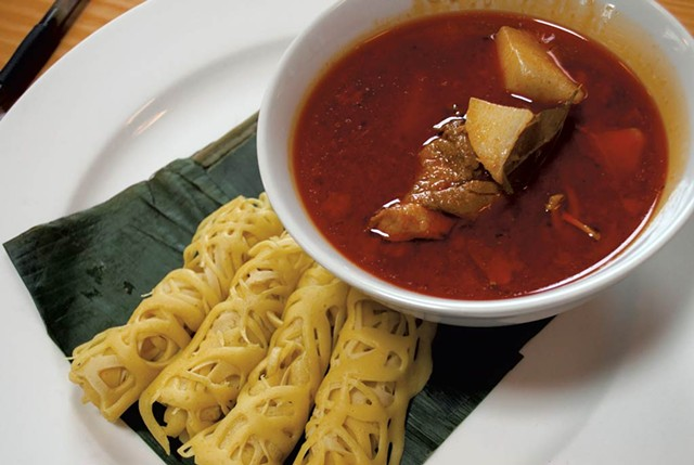 Lacy crepes and Nonya-style curry at Hawker Stall - COURTESY OF HANNAH PALMER EGAN