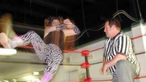 Lady Lock: In Vermont pro-wrestling rings, Lisa Hayes is the grand dame of slam