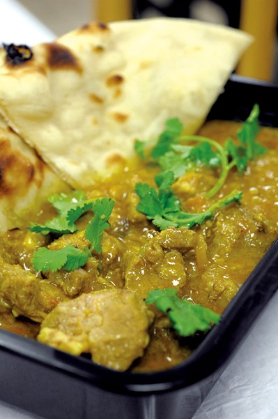 Lamb curry and naan - JEB WALLACE-BRODEUR