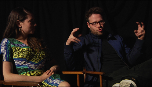 Lauren Miller and Seth Rogen at Merrill's Roxy Cinemas - COURTESY OF EVA SOLLBERGER