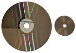 LD-to-DVD size comparison - FROM WIKIPEDIA