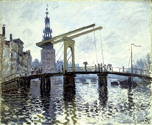 "COURTESY OF THE SHELBURNE MUSEUM - ""Le Pont, Amsterdam"" by Claude Monet"