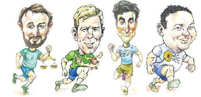 Left to right: Bram Kranichfeld, Tim Ashe, Miro Weinberger, Jason Lorber