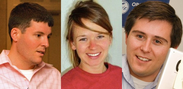 Left to right: Corry Bliss, Alexandra MacLean, Paul Tencher