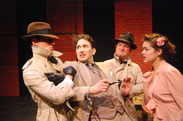 Left to right: Eric Love, Christopher Scheer, Scott Renzoni, Kate Kenney - COURTESY OF JIM LOWE