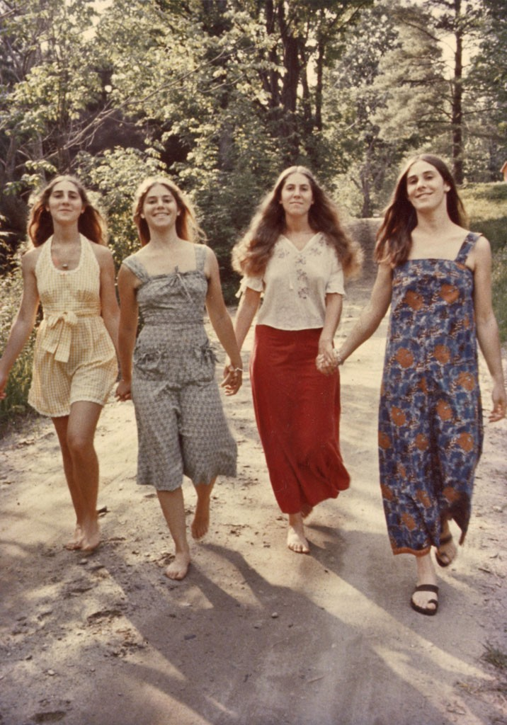 Left to right: sisters Joanne, Maggie,  Elizabeth and Katy Lesser in 1974 - COURTESY OF KATY LESSER