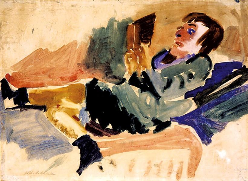 """Lesende"" by Oskar Kokoschka"