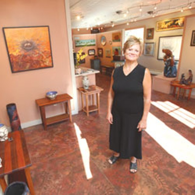 Liza Myers in her gallery