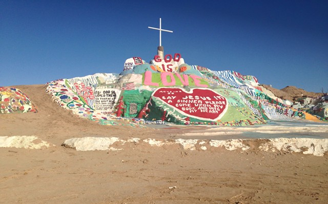 Long view of Salvation Mountain - PAULA ROUTLY