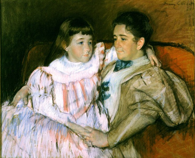 """""""Louisine Havemeyer and Her Daughter Electra"""" by Mary Cassatt"""