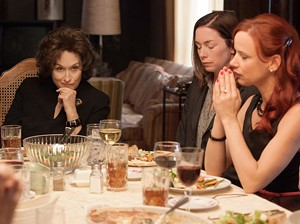 MAMARAMA Streep is over the top as an Okie control freak with a mean streak in this disappointing adaptation of Letts' award-winning family portrait.