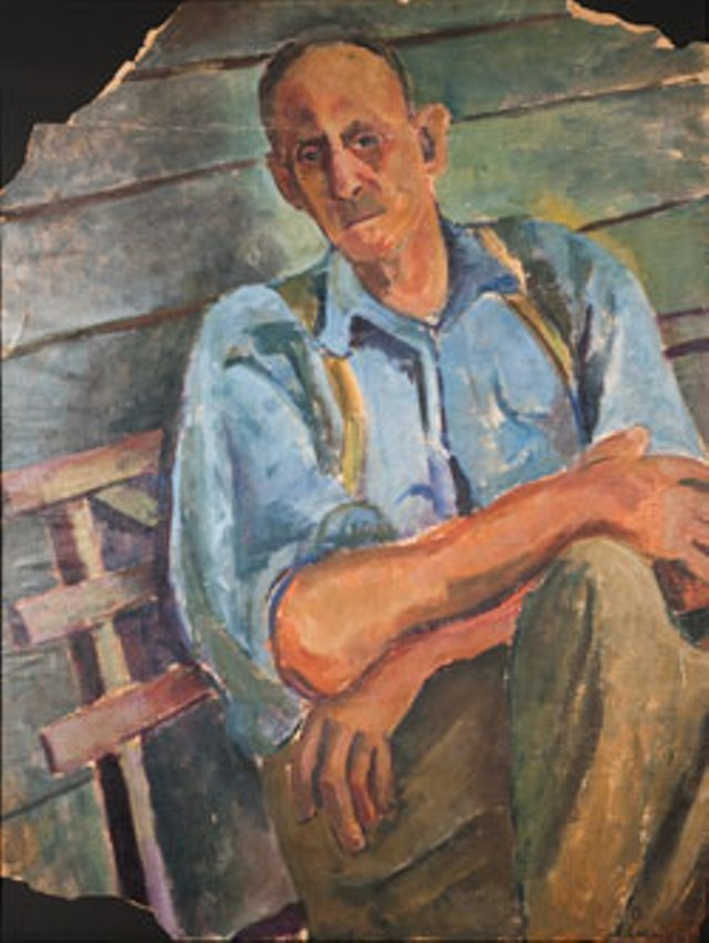 """Man on Porch, Hazard, Kentucky"""