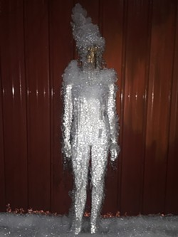 Mannequin coated in ice - COURTESY OF JAKE RIFKEN