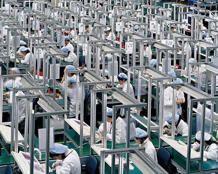 """Manufacturing #16, Bird Mobile,"" Zhejiang Province, Edward Burtynsky - COURTESY OF HOOD MUSEUM OF ART"