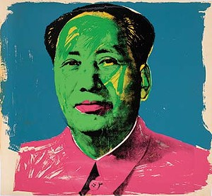"""COURTESY OF MIDDLEBURY COLLEGE MUSEUM OF ART - """"Mao"""" by Andy Warhol"""