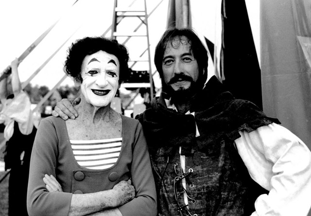 Marcel Marceau and Rob Mermin in 1999 - COURTESY OF ROB MERMIN