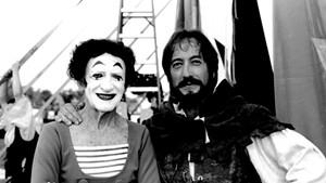 Marcel Marceau and Rob Mermin in 1999