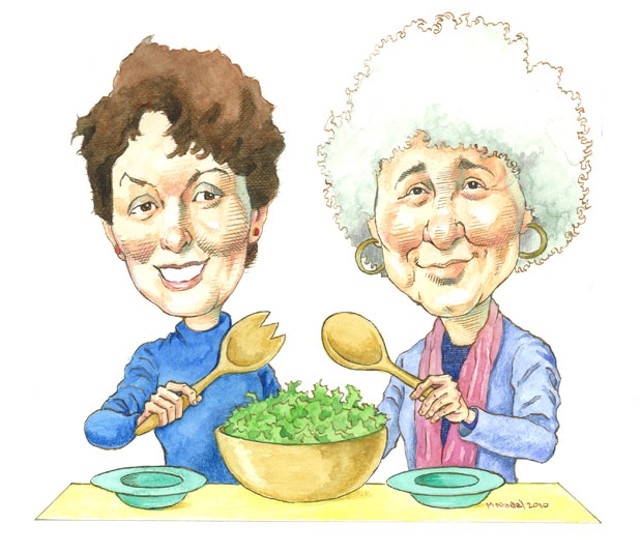 Marian Burros and Marion Nestle