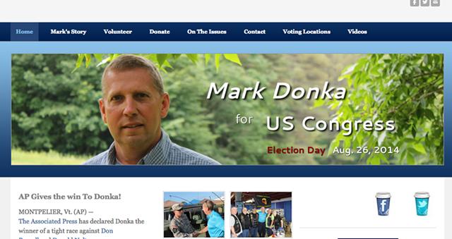 Mark Donka's campaign website - FROM MARKDONKAFORVT.COM