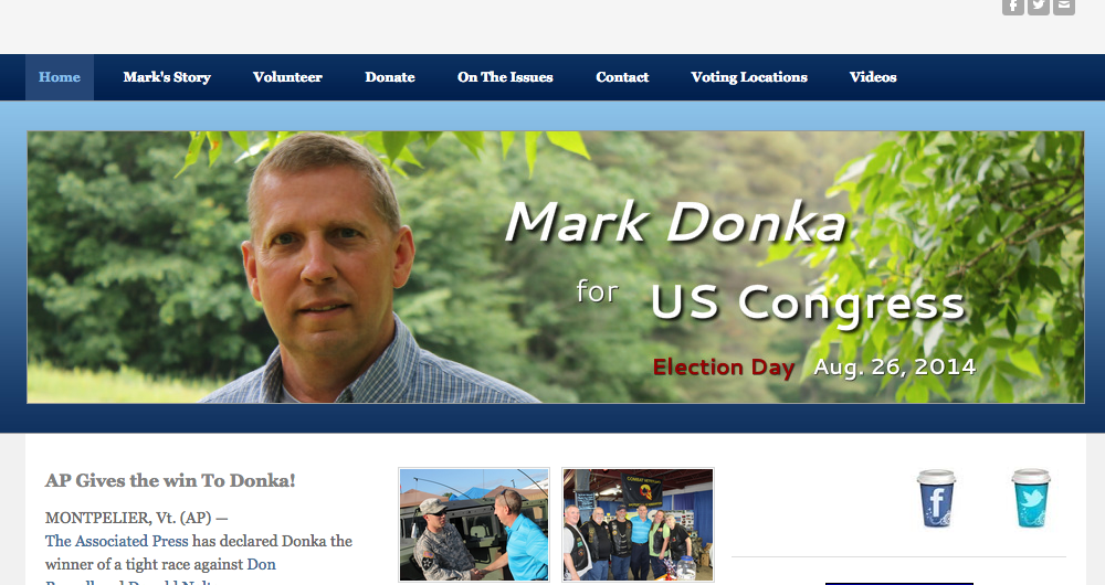 Mark Donka's campaign website - FROM MARKDONKAFORVT.COM
