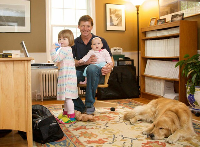 Mark Gabel with daughters Mairi, 6, and Libby, 3