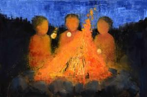 "COURTESY OF EDGEWATER GALLERY - ""Marshmallow No. 2"" by Rebecca Kinkead"