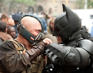 MASKED AND NOTORIOUS Bale and Hardy face off in the final chapter of Nolan's Batman trilogy.