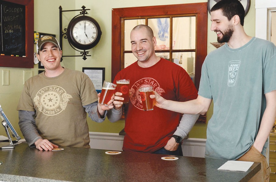 Matt Kehaya, Steve Gagner and Dan Sartwell of 14th Star Brewing - COURTESY OF 14TH STAR BREWING