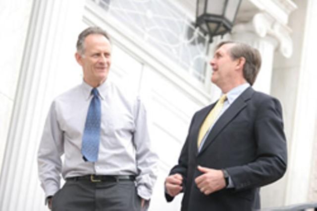 Mayor Bob Kiss and Jonathan Leopold - JORDAN SILVERMAN