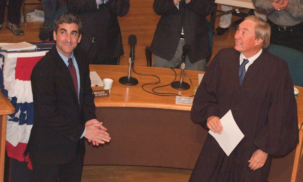 Mayor Miro Weinberger and Judge William Sessions III