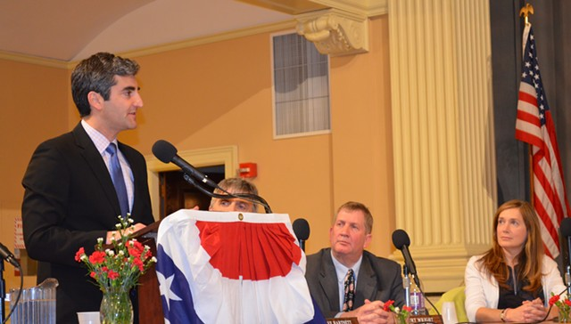 Mayor Miro Weinberger gives the annual State of the City address to the City Council. - ALICIA FREESE