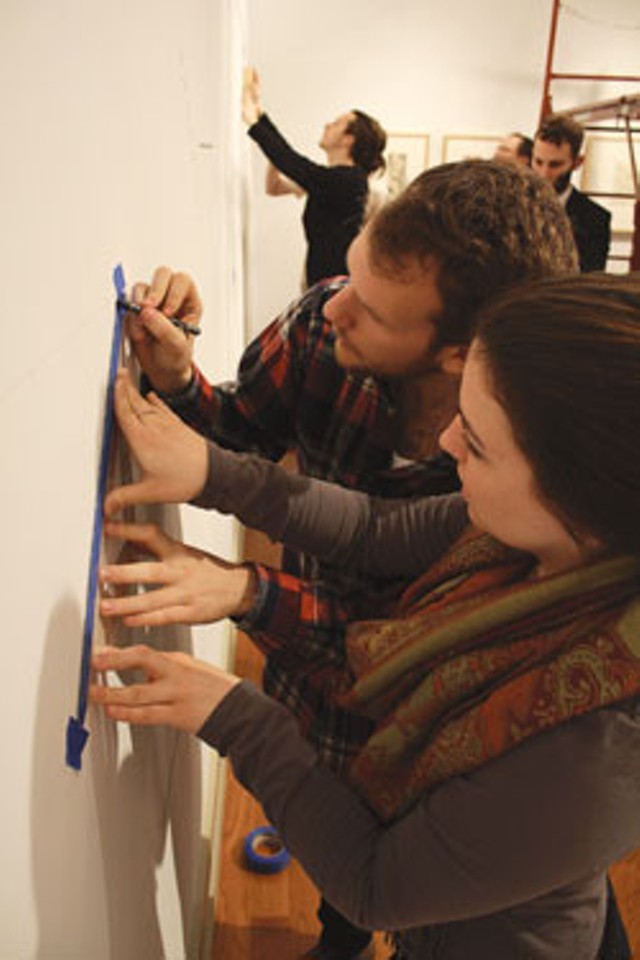 Middlebury College art students