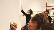 At Middlebury College, Students Practice Minimalism With an Artwork by Sol LeWitt