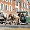 Middlebury's Latest Trash Haulers Are Equine