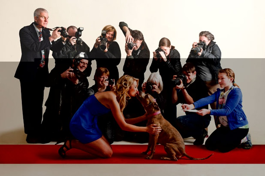 Miss Vermont USA Sarah Westbrook, in a Humane Society ad.