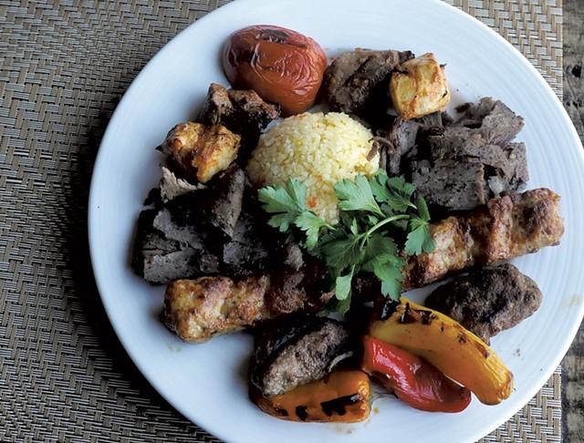 Mixed-grill kebab at Tuckerbox