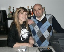 Moe Alameddine with assistant Paulin