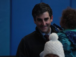 Mayor Miro Weinberger at the polls Tuesday - MATTHEW THORSEN