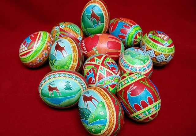 More nontraditional painted eggs - COURTESY OF THERESA SOMERSET