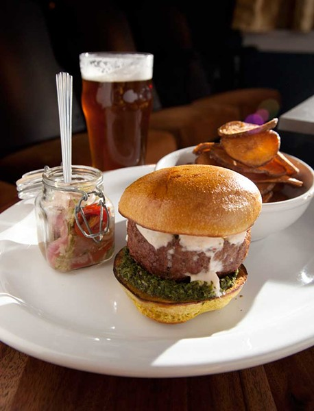 Moroccan-spiced lamb burger - MATTHEW THORSEN
