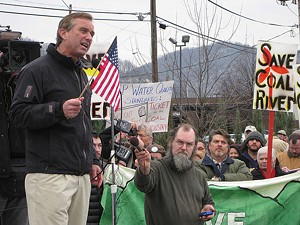 MOUNTAIN MAN Robert F. Kennedy Jr. joins the fight against abuses by Big Coal in Bill Haney's powerful new documentary.