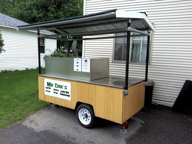 Mr. Cool's food cart